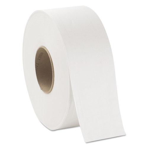 JRT Jumbo Bath Tissue, Septic Safe, 2-Ply, White, 3 x 750 ft, 12/Carton