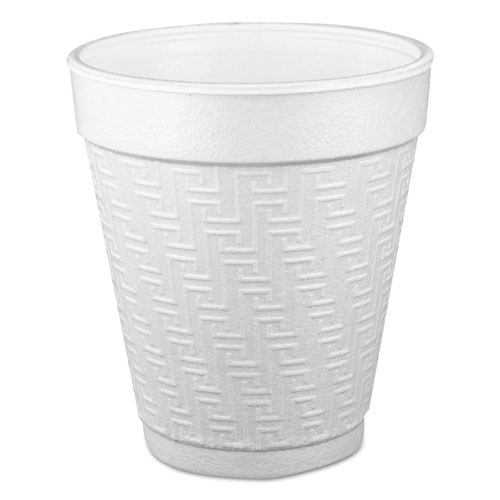 Small Foam Drink Cup, 10 oz, Hot/Cold, White, 25/Bag, 40 Bags/Carton 10KY10