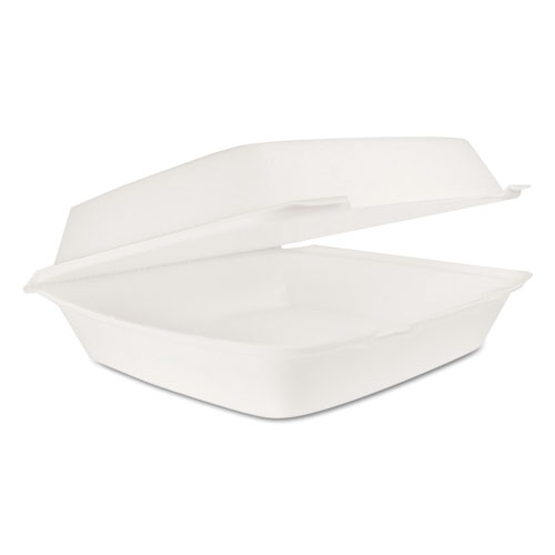 Hinged Lid Carryout Container, White, 10 1/3 x 3 1/2 x 9 1/2, 100/BG, 2 BG/CT