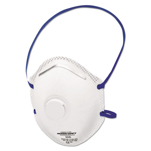 Jackson Safety* R10 Particulate Respirator, N95, White, One Size Fits All, 10/Box, 8/CT