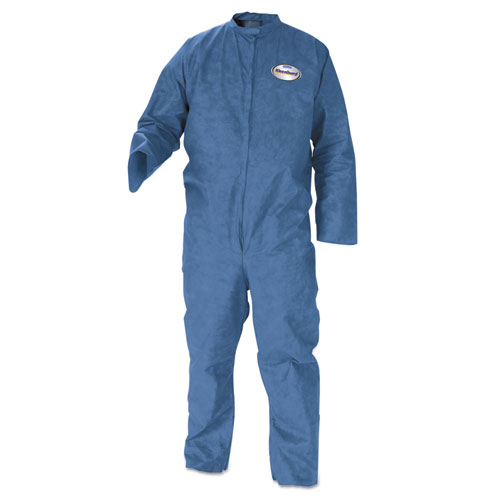 KleenGuard* A20 Breathable Particle Protection Coveralls, Large, Blue, 24/Carton