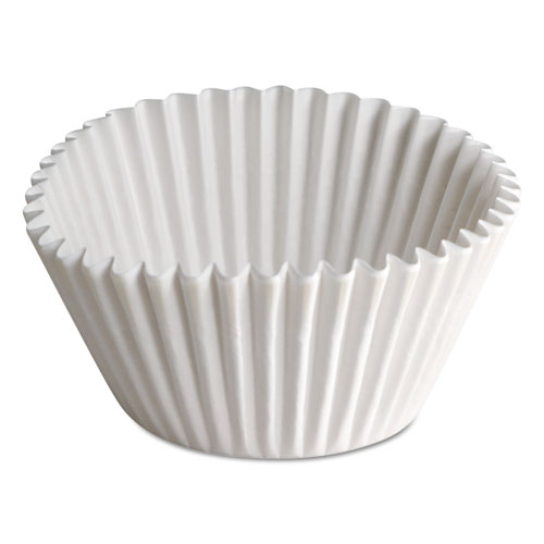 Fluted Bake Cups, 1 1/2in. x 1/2in. x 3 1/2in., White, 500/Carton BL35065