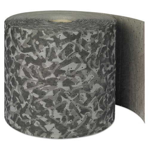 "SPC® Battlemat Heavy-Roll Sorbent Pads, 25gal, 15"" x 150ft, Industrial Camouflage"