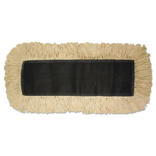Disposable Dust Mop Head, Cotton, 18w x 5d | by Plexsupply