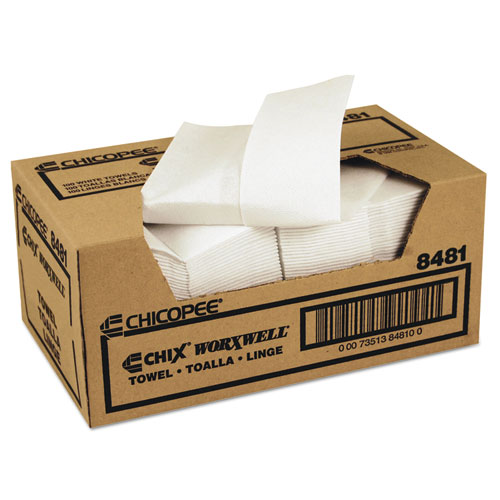 Worxwell General Purpose Towels, 13 x 15, White, 100/Carton | by Plexsupply