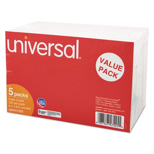 Unv47225 Universal 174 Unruled Index Cards Zuma