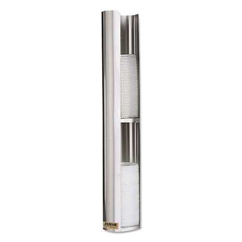 Wall-Mount Cup Lid Dispenser, Stainless Steel L3402