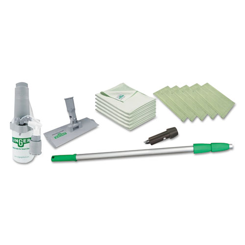 Indoor Window Cleaning Kit, Aluminum, 72 Extension Pole With 8 Pad Holder