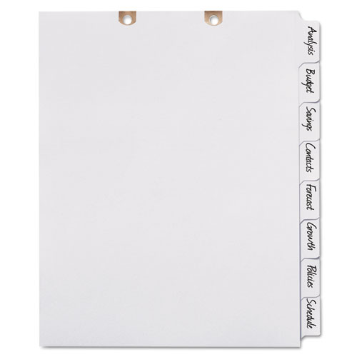 Write & Erase Tab Dividers for Classification Folders, 8-Tab, Side Tab, Letter | by Plexsupply