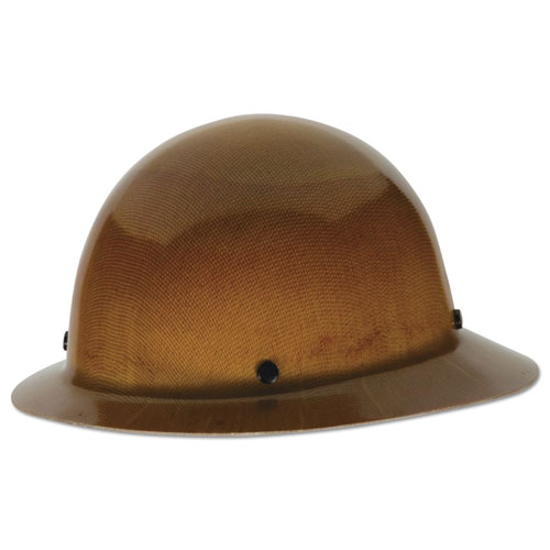 Skullgard Protective Hard Hats, Staz-On Pin-Lock Suspension, Lamp Bracket, Tan MSA460389