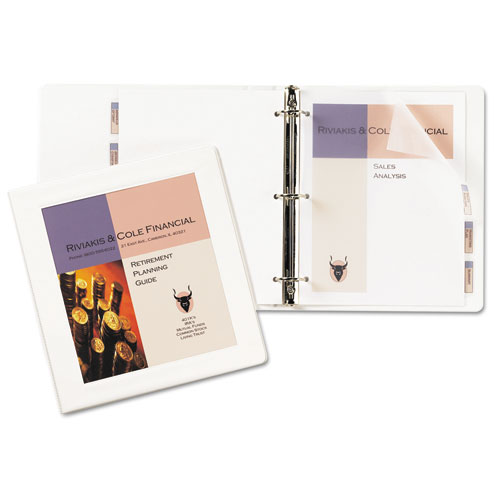 "Framed View Heavy-Duty Binders, 3 Rings, 1"" Capacity, 11 x 8.5, White 