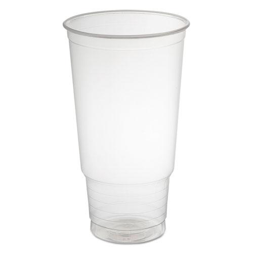 Polypropylene Cups, Cold Cups, 32 oz, Clear, 25/Bag, 20 Bags/Carton 32P