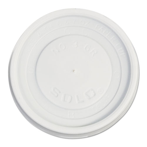 Polystyrene Vented Hot Cup Lids, 4-6 oz Cups, White, 100/Pack, 10 Packs/Carton VL36R