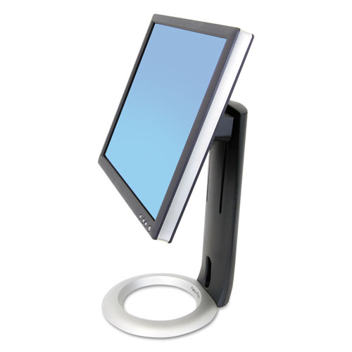 Neo-Flex LCD Stand, For 24 Monitors, 8.63 x 11.5 x 16, Black/Silver, Supports 16 lb