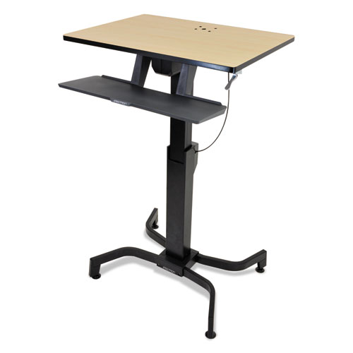 Ergotron® WorkFit-PD Sit-Stand Workstation, 31 1/2 x 23 1/2 x 29 1/2, Birch/Black