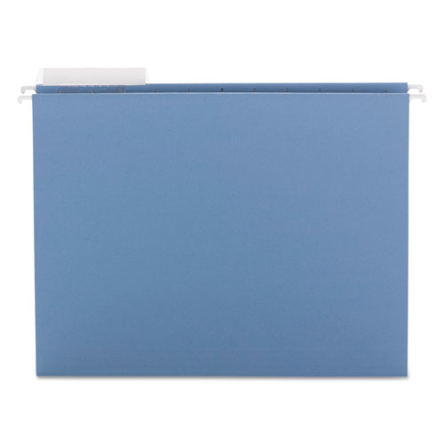 Color Hanging Folders with 1/3 Cut Tabs, Letter Size, 1/3-Cut Tab, Blue, 25/Box