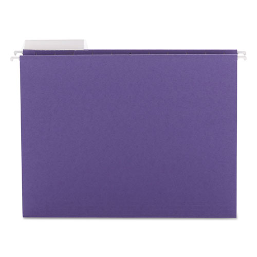 Color Hanging Folders with 1/3 Cut Tabs, Letter Size, 1/3-Cut Tab, Purple, 25/Box
