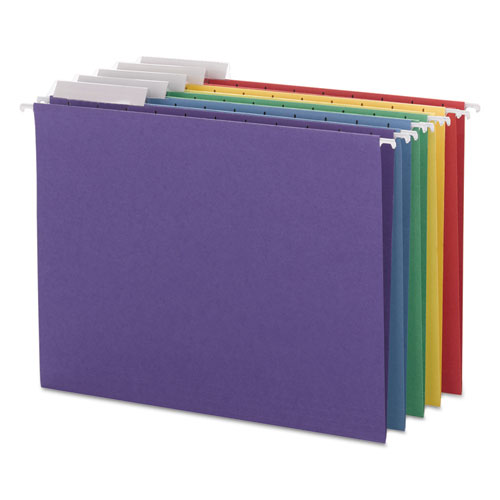 Color Hanging Folders with 1/3 Cut Tabs, Letter Size, 1/3-Cut Tab, Assorted, 25/Box
