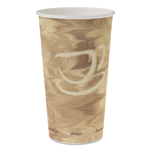 Single Sided Poly Paper Hot Cups, 20 OZ, Mistique design, 40/Bag, 15 Bags/Carton 420MS