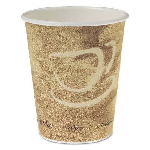 Single Sided Poly Paper Hot Cups, 10 OZ, Mistique design, 50/Bag, 20 Bags/Carton 370MS