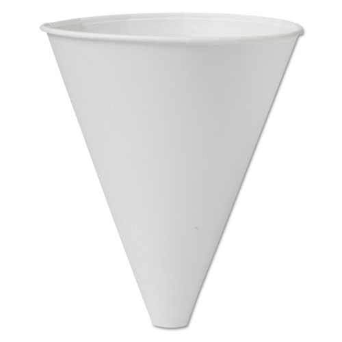 Bare Eco-Forward Treated Paper Funnel Cups, 10oz. White, 250/Bag, 4 Bags/Carton 10BFC