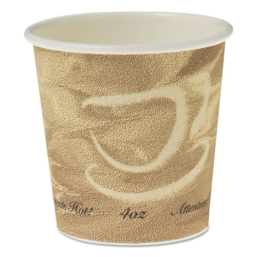 Single Sided Poly Paper Hot Cups, 4 OZ, Mistique design 374MS