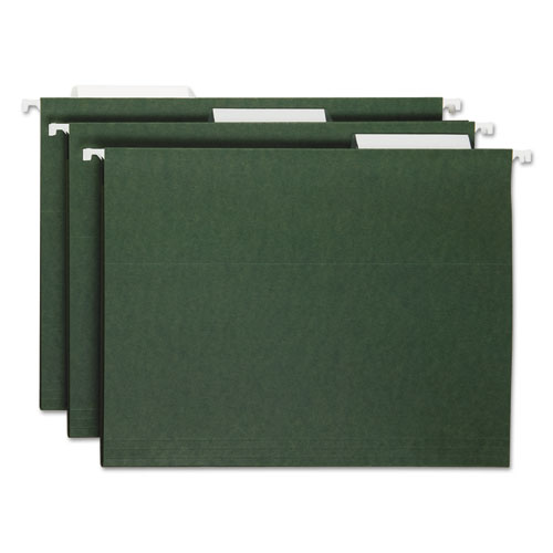 """for HANGING FILE FOLDERS 1//3 cut with Blank White Inserts 100 CLEAR 3.5/"""" TABS"""