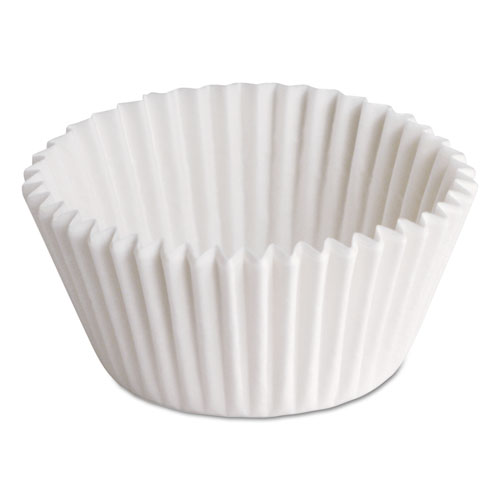 Fluted Bake Cups, 7/8in. x 7/8in. x 1 1/4in., White, 500/Pack, 20 Packs/Carton BL1143
