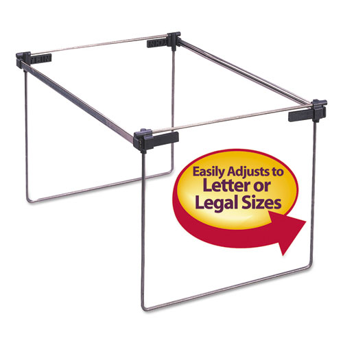 Hanging Folder Frame, Letter/Legal Size, 12-24 Long, Steel, 2/Box