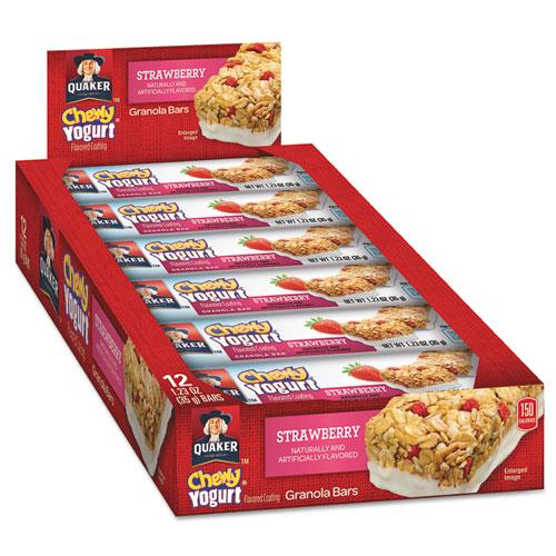 Quaker® Chewy Yogurt Granola Bars, 1.23 oz Bar, Strawberry, 12/Box