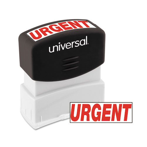 Message Stamp, URGENT, Pre-Inked One-Color, Red | by Plexsupply