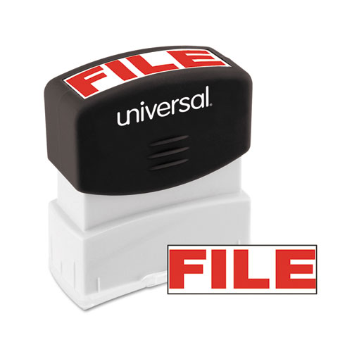 Message Stamp, FILE, Pre-Inked One-Color, Red