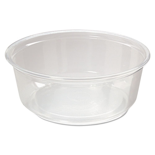 Microwavable Deli Containers, 8oz, Clear, 500/Carton | by Plexsupply