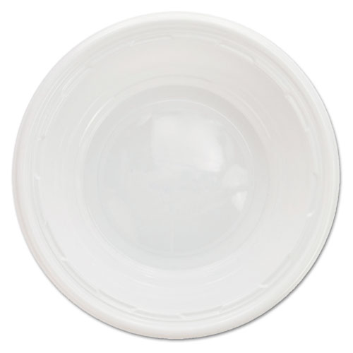 Famous Service Impact Plastic Dinnerware, Bowl, 5-6 oz, White, 125/Pack | by Plexsupply