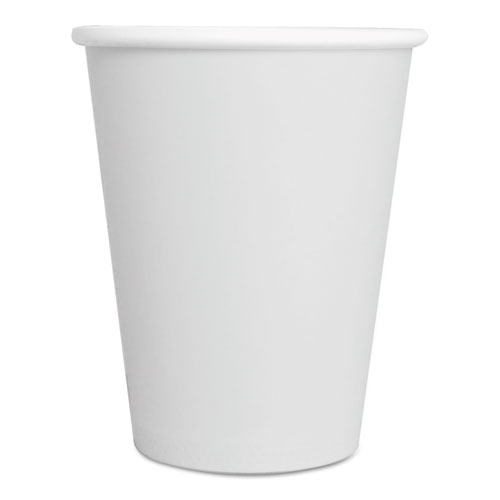 Paper Hot Cups, 8 oz, White, 50/Pack 8HOTCUPWHPK