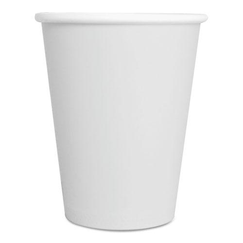 Paper Hot Cups, 8 oz, White, 50/Pack 8HOTCUPWHPK