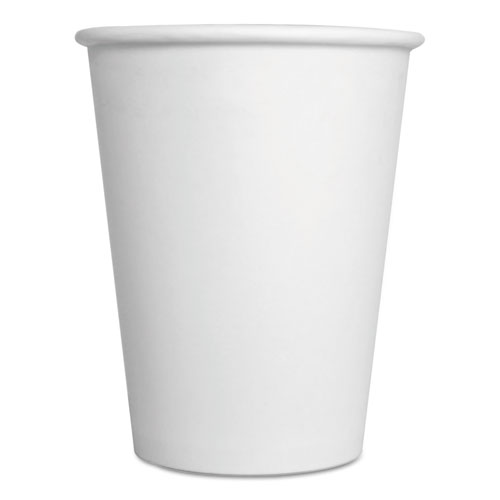 Paper Hot Cups, 12 oz, White, 1000/Carton 12HOTCUPWH
