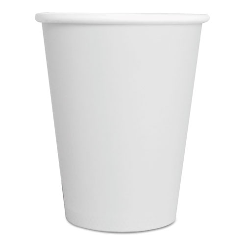 Paper Hot Cups, 8 oz, White, 1000/Carton 8HOTCUPWH