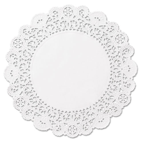 "Brooklace Lace Doilies, Round, 4"", White, 2000/Carton 