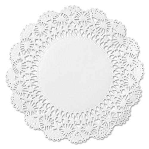 "Cambridge Lace Doilies, Round, 12"", White, 1000/Carton 