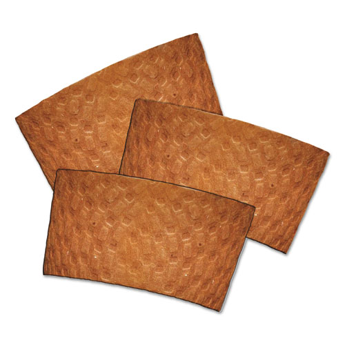 Kraft Hot Cup Sleeves, For 10-24 oz Cups, Brown, 1000/Carton