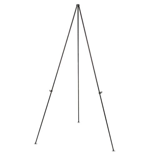 "Instant Easel, 61 1/2"", Black, Steel, Lightweight | by Plexsupply"