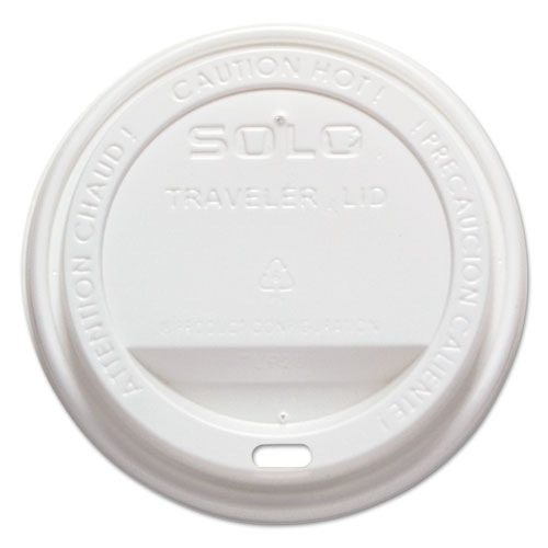 Traveler Drink-Thru Lid, Fits 12-16 oz Cups, White, 1000/Carton | by Plexsupply