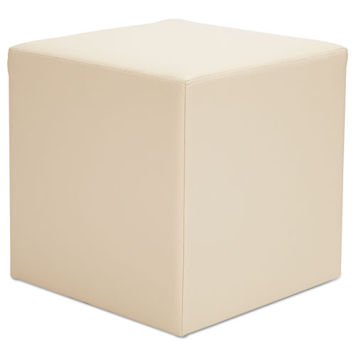 Alera WE Series Collaboration Seating, Cube Bench, 18w x 18d x 18h, Almond