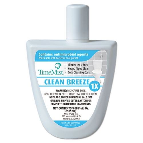 TimeMist® Virtual Janitor Refill, 1.55 oz Bottle, Clean and Fresh, 6/Carton