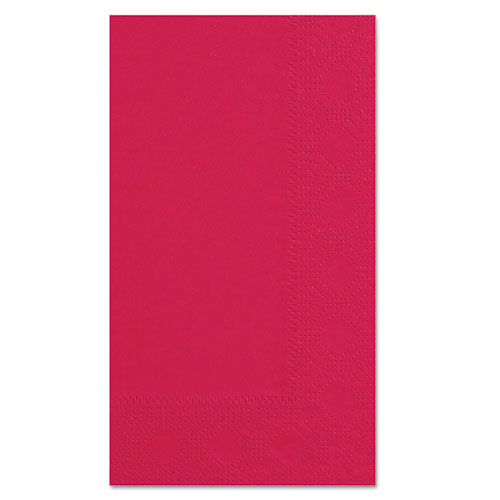 Dinner Napkins, 2-Ply, 15 x 17, Red, 1000/Carton | by Plexsupply