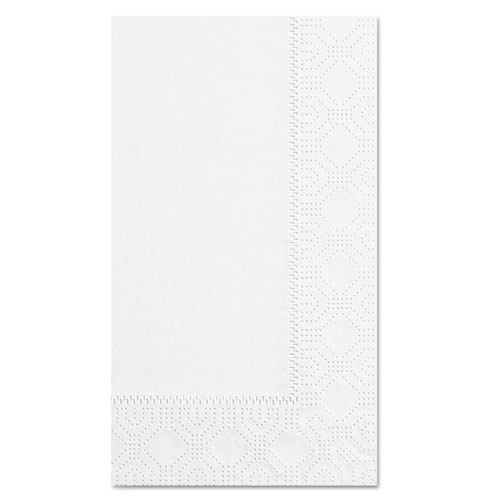 Dinner Napkins, 2-Ply, 15 x 17, White, 1000/Carton | by Plexsupply