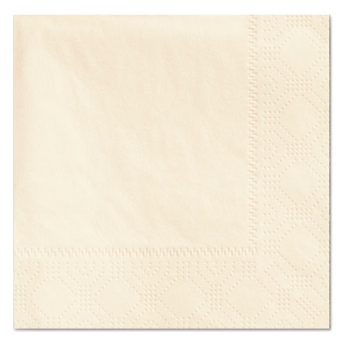 Beverage Napkins, 2-Ply, 9 1/2 x 9 1/2, Ecru, 1000/Carton