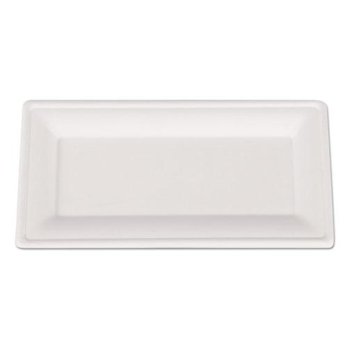 Champware Molded Fiber Tableware, Rectangle, 10 X 5, White, 500 Per Carton