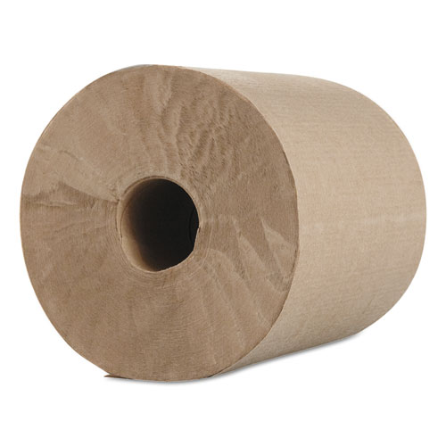 "Morcon Paper Hardwound Roll Towels, Kraft, 1-Ply, 600 ft, 7.8"" Dia, 12/Carton"